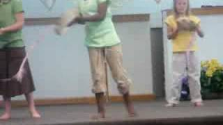 Cassie at praise dance class