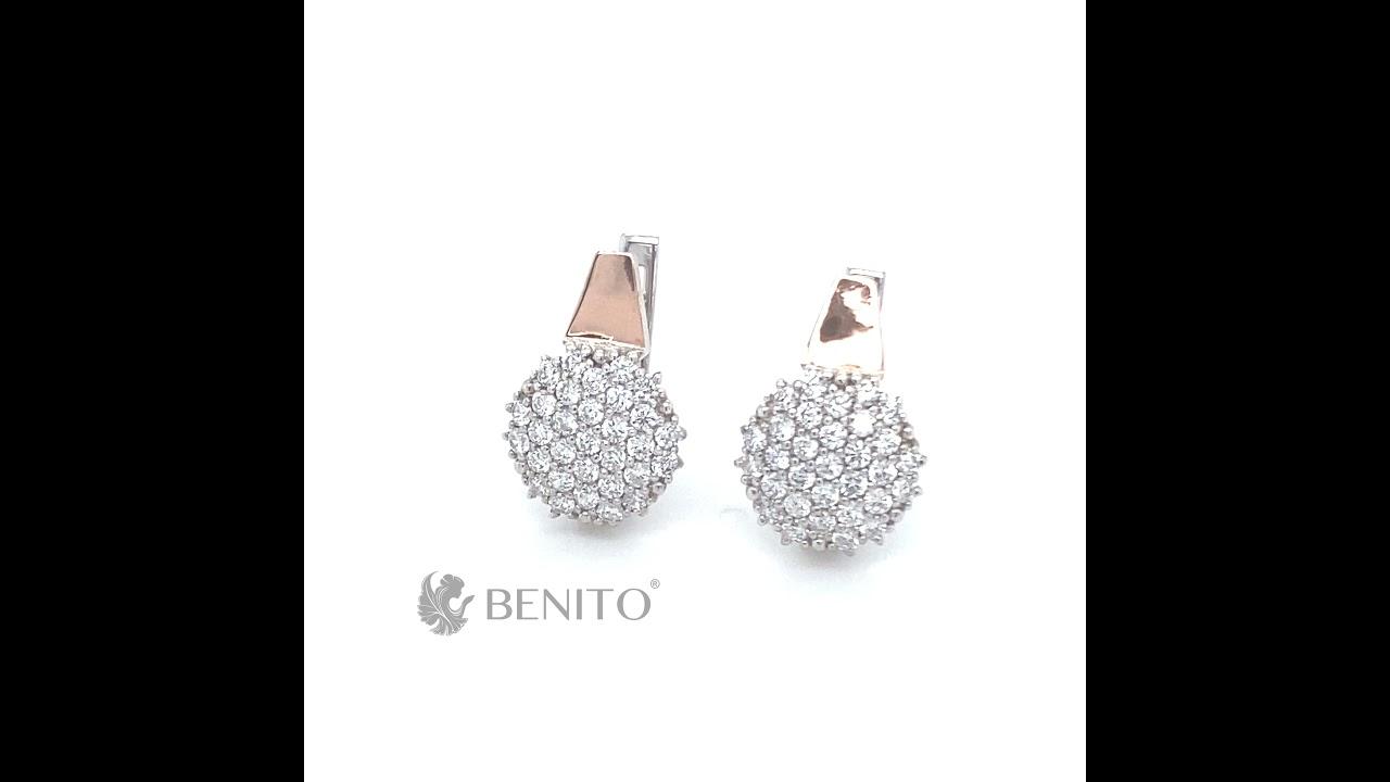 Grace Earrings White Zircon Stones