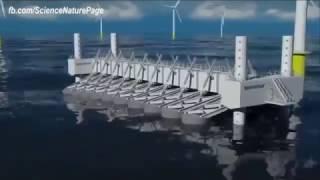 Konsep pembangkit listrik masa depan memanfaatkan energi kinetik laut