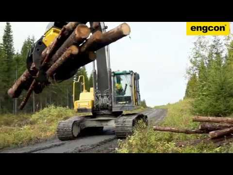 Volvo EC300 - engcon EC233 Tiltrotator, Timber Grab and EC-Oil