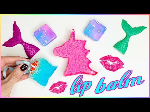 DIY Lip Balm! How To Make 5 Miniature Unicorn,Mermaid,Galaxy & Aquarium! Lip Gloss DIYs{EASY}Crafts