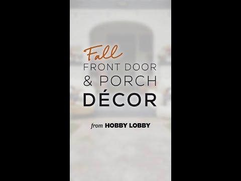Fall Front Door & Porch Decor