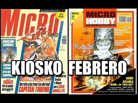 MICROMANIA Y MICROHOBBY KIOSKO FEBRERO