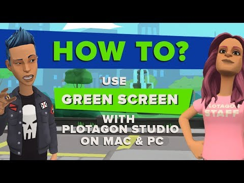 How to use green screen with Plotagon Studio on a desktop device.