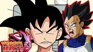 Vegeta Reacts To Dragon Ball Super Parody Goku Vs The Toilet