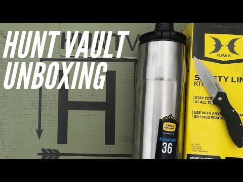 Hunt Vault UNBOXING: Kershaw Knife, Otter Box, HUNT VAULT Truckers Hat, and More - January 2020