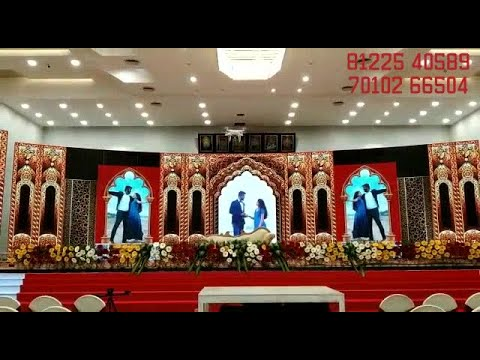 Grand Wedding LED Screen Video Wall Stage Design | Reception Event Decoration India 91 81225 40589 (WA)