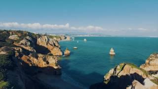 Portugal Algarve from drone 2016 December 4K