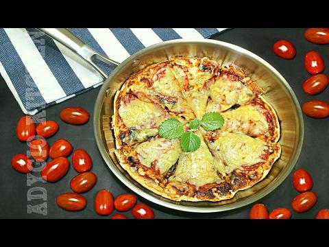 Pizza la tigaie cu salam si cascaval