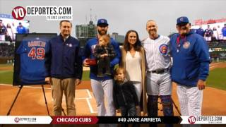 Chicago Cubs recognize Jake Arrieta 2nd no hitter