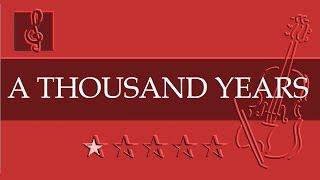Violin & Guitar Duet - A Thousand Years - Christina Perri  (Sheet Music - Guitar Chords)