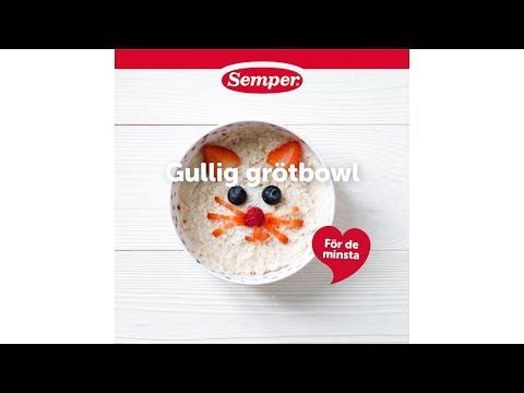 Gullig grötbowl