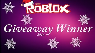 Giveaway Winner Of 1000 Robux 2016 | Kertrud's World
