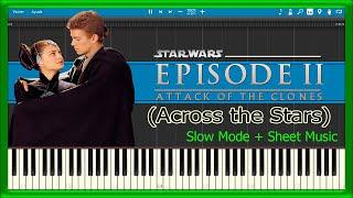 Across the Stars - Star Wars Episode II (Piano Tutorial)