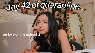 day in my life as a quarantined teen! online school vlog!