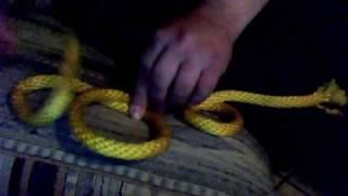 Spanish bowline 4 hours later and probably tipsy