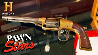 Pawn Stars: RARE REVOLVER, Rapid Fire Negotiation (Season 17) | History