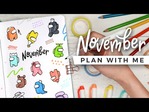 PLAN WITH ME | November 2020 Bullet Journal Setup