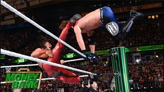 Styles faceplants after Nakamura's nasty kick: Money in the Bank 2018 (WWE Network Exclusive)