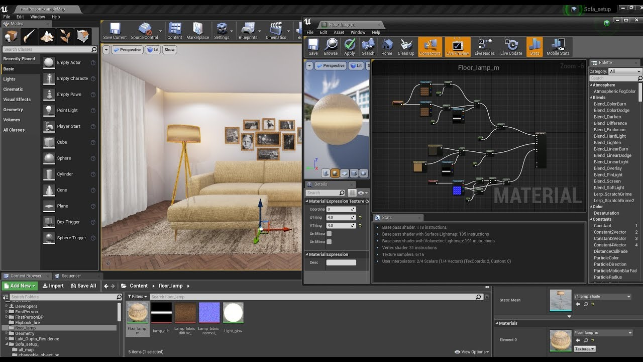 Download thumbnail for How to make Lamp in unreal engine 4 | ue4