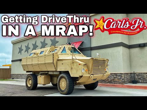 Going Through Carls JR Drive Thru in Ultimate Survival Vehicle! *Armored MRAP*