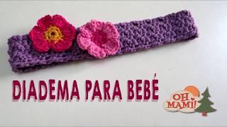 diadema para beb a crochet muy fcil