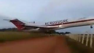 Acidente Aéreo queda de Avião ao vivo  Boeing 727 en Puerto Carreño Vichada