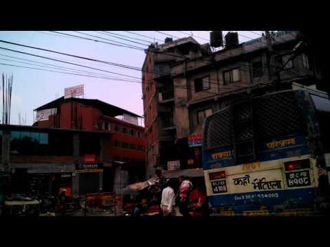 taxi cab ride in Kathmandu Nepal
