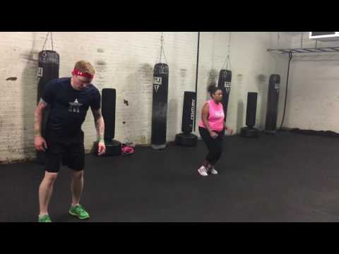 Cardio Box burpees and tuck jumps