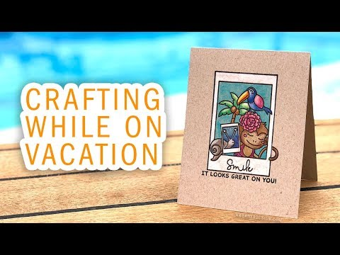 TRAVEL VLOG – Crafting on a Cruise! What did I pack?