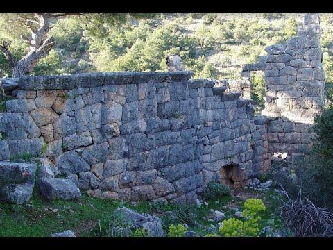 Unknown Pydnae ancient fortress, polygonal masonry