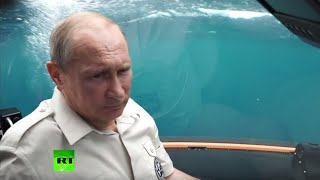 RAW: GoPro cam captures Putin's plunge into Black Sea depths