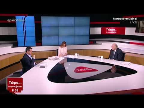 Β. Λεβέντης /  Με τη Φαίη Μαυραγάνη, E TV / 17-2-2018