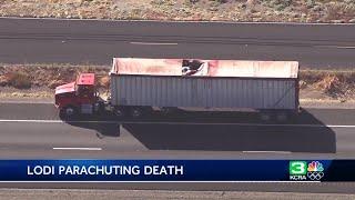 Skydiver killed in big rig crash on Highway 99 in Lodi area
