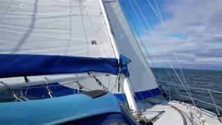 sailing Mark Keller Catalina 34 maiden voyage Anacortes to Blaine WA Feb 9 2018