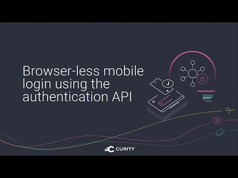 Browser-less mobile login using the authentication API