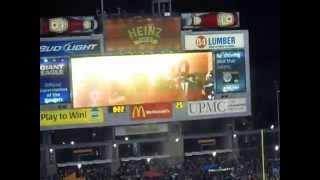 Steeler - Ravens pregame intro activity Heinz Field 11-2-2014