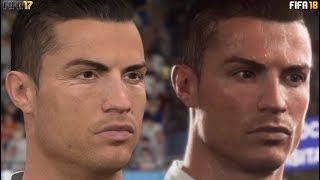 FIFA 18 vs FIFA 17 Gameplay, Graphics, Player Faces Comparison  (Xbox One, PS4, PC)