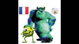 LEARN FRENCH - french lesson  with Monster Inc ( french dub english sub )