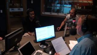 The California Crooners - Hugh Sheridan, Emile Welman and Gabe Roland - sing on 3AW Afternoons
