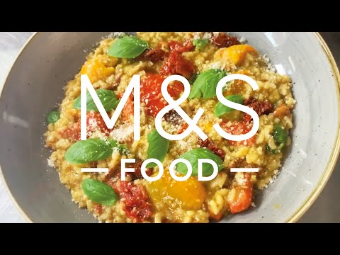 marksandspencer.com & Marks and Spencer Promo Code video: Chris' Hearty Veggie Risotto | M&S FOOD