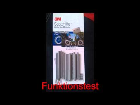 3M Speichenreflektoren - Funktionstest