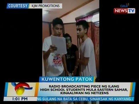 BT: Radio broadcasting piece ng ilang HS students mula Eastern Samar, kinaaliwan ng netizens