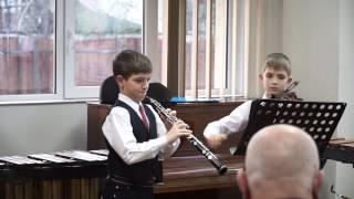 JS Bach , Bourree -  Oboe , Violin Duet