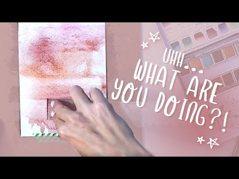 5 MINUTE ART! Layered Abstract Watercolor Tutorial (Easy Beginner Painting)