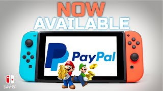 PayPal Now Supported on Nintendo Switch eShop