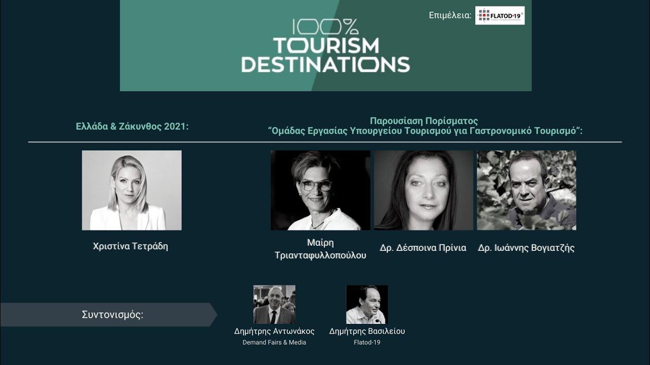 100% Tourism Destinations   Ελλάδα & Ζάκυνθος 2021/ Παρουσίαση Πορίσματος για Γαστρονομικό Τουρισμό