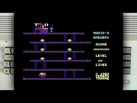 Mario's Brewery on the Commodore 64
