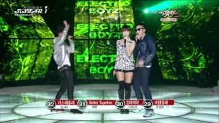 [100917] MBC Music Bank: Electro Boyz - Drawing You feat.HyoLyn
