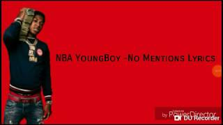 NBA no-mentions (lyrics)